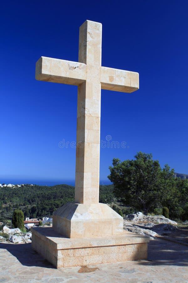 Hilltop cross stock image