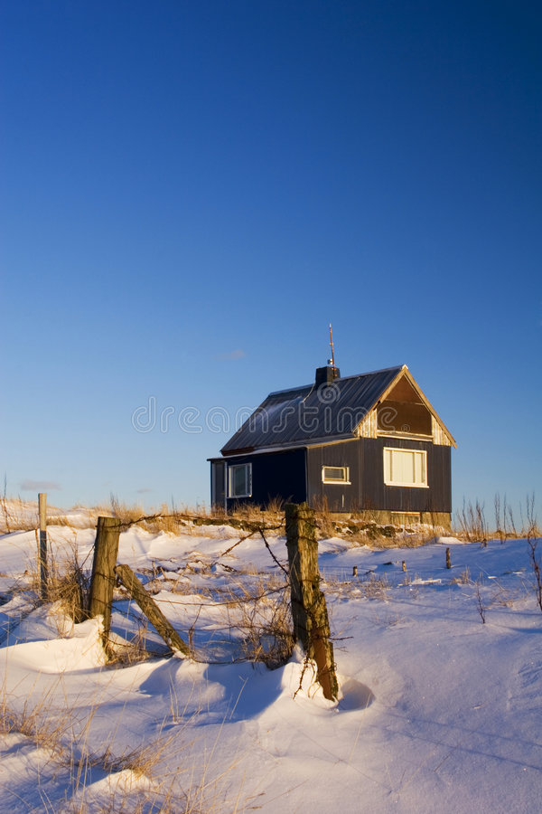 Download Hilltop house stock image. Image of winter, country, snow - 2208703
