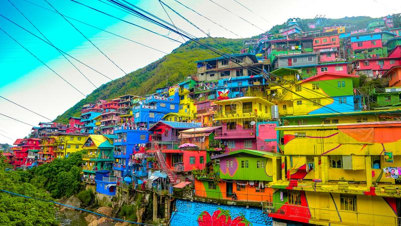 Hilltop houses royalty free stock image