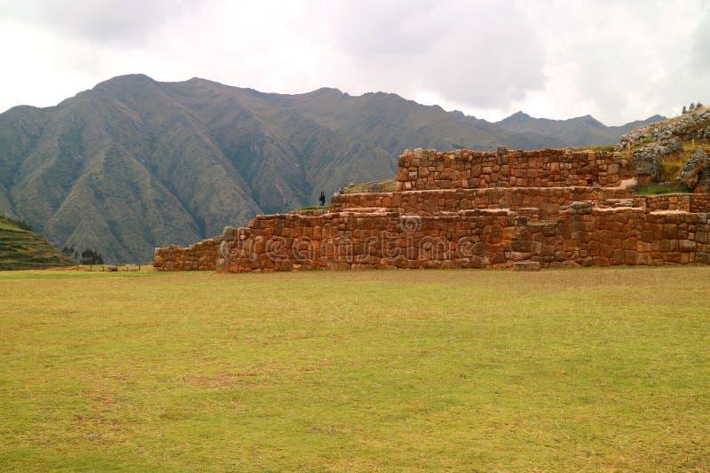 Hilltop Inca Ruins at Chinchero, Secred Valley of the Inca, Cuzco, Peru royalty free stock image