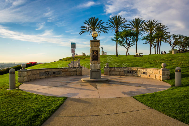 Hilltop Park, in Signal Hill, Long Beach. California royalty free stock images