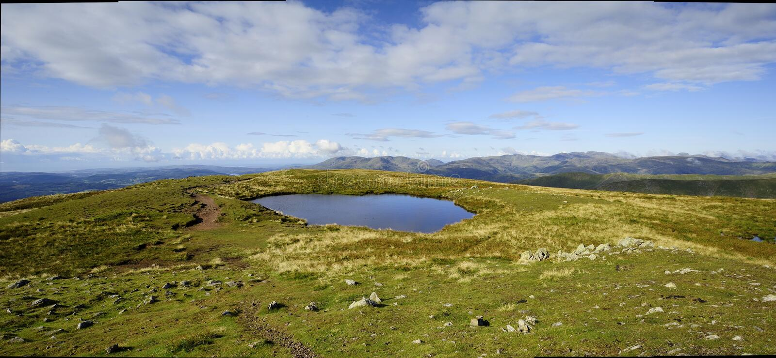 Hilltop Tarn. On Red Screes stock image