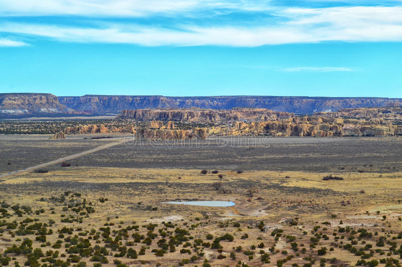 Hilltop Village in New Mexico. The Hilltop village in Sky City, a Native American Pueblo of the Acoma tribe stock photography