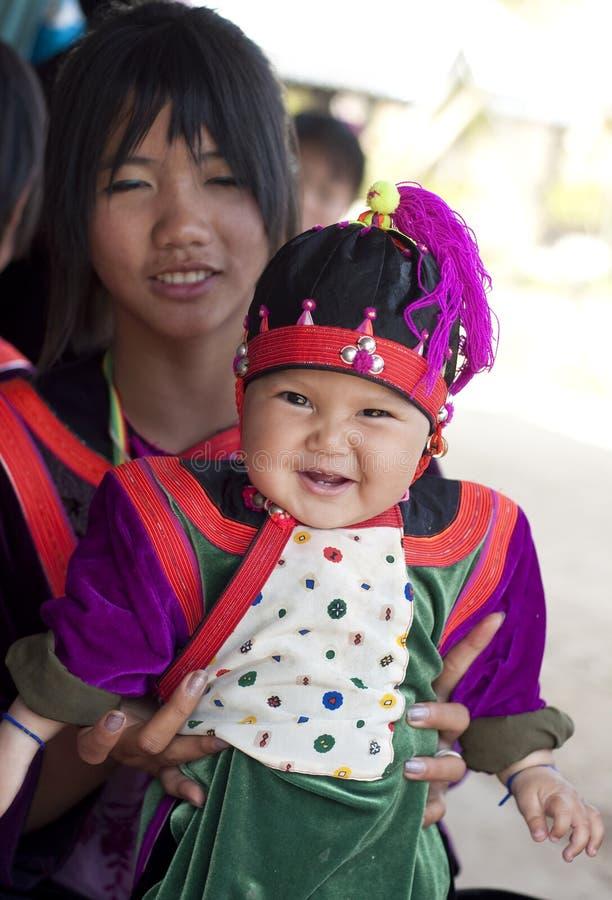 Hilltribe de Lisu dans le village, Thaïlande image libre de droits
