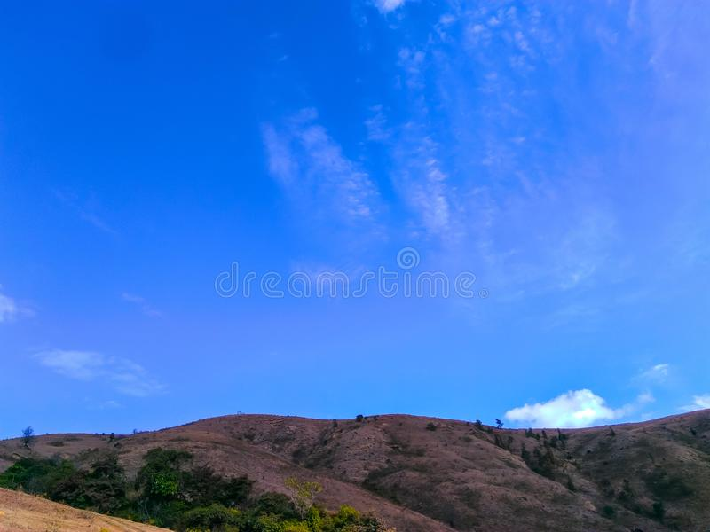 Hilly part of rural area royalty free stock photos