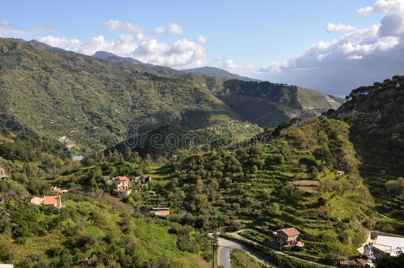 Download Hilly sicily stock image. Image of mountains, landscape - 13755041