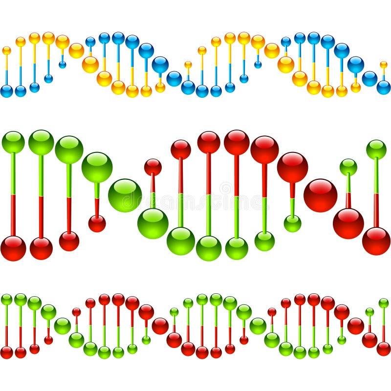 Hilos inconsútiles de la DNA stock de ilustración