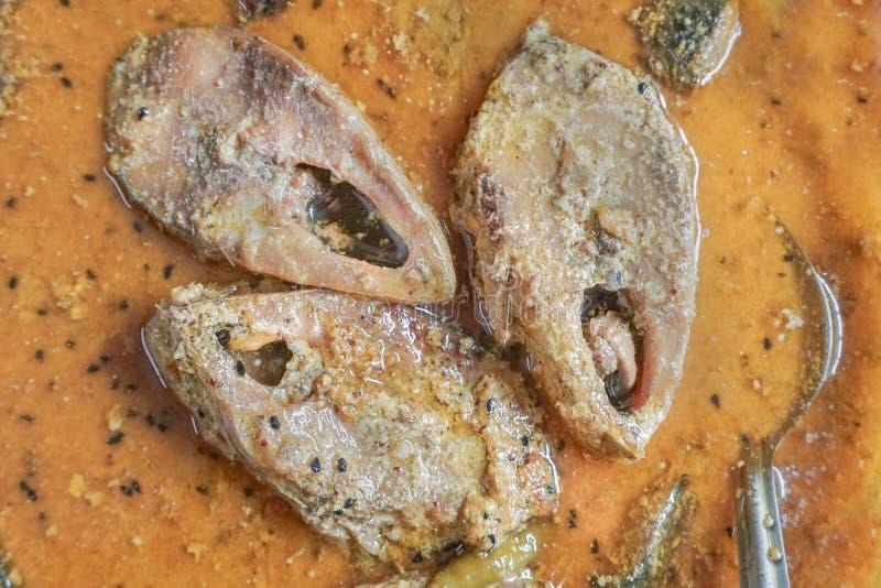 Hilsa vissenstukken op een plaat royalty-vrije stock foto's