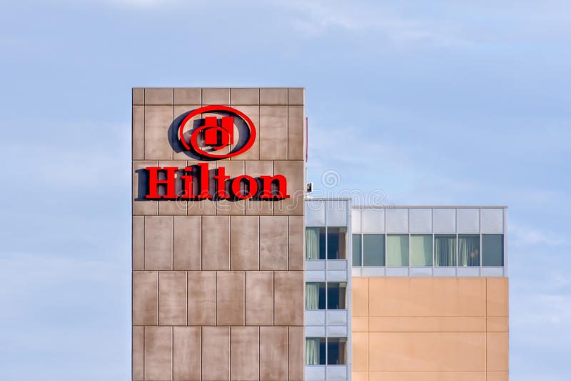 hilton ξενοδοχείο στοκ εικόνα με δικαίωμα ελεύθερης χρήσης