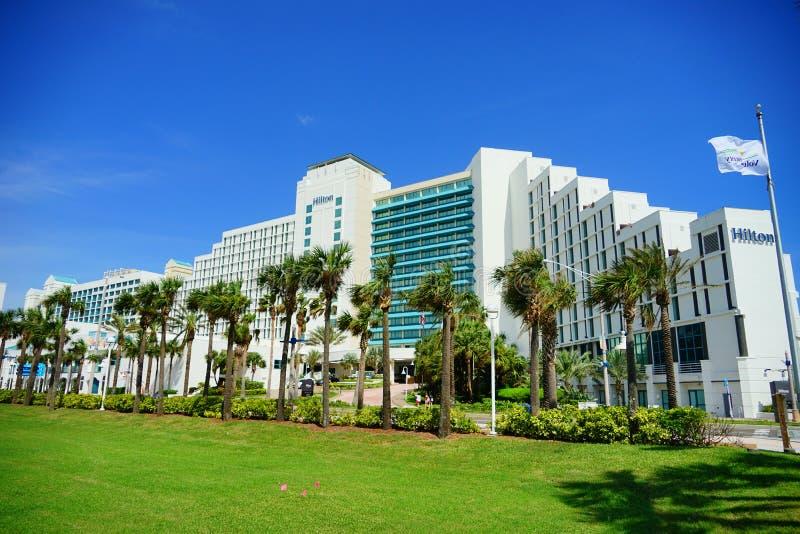 Hilton em Daytona Beach em Florida imagens de stock royalty free