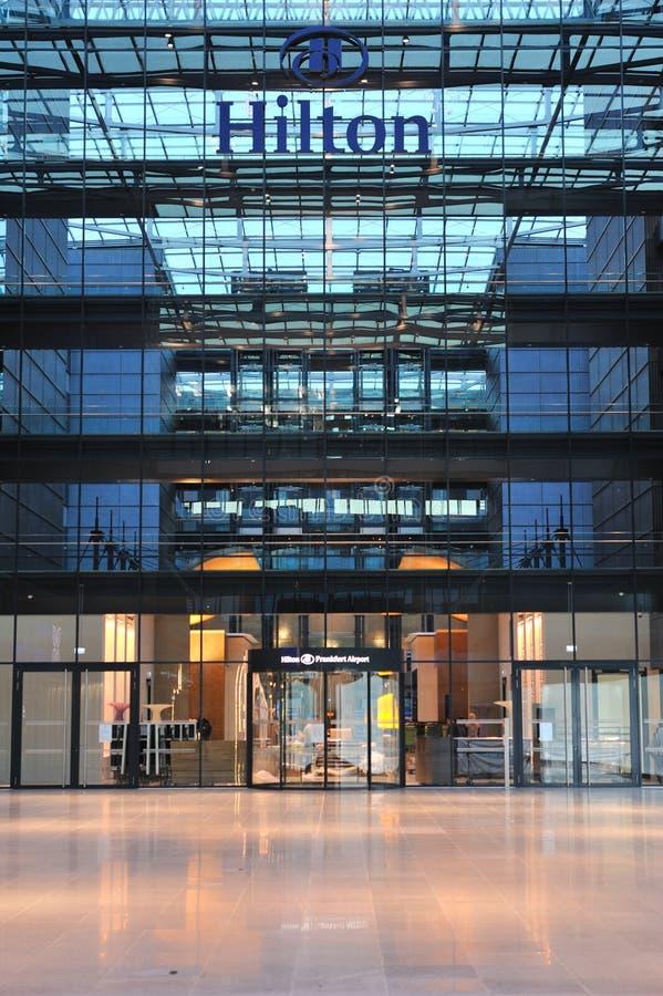 Hilton Frankfurt Airport Hotel Facade Editorial