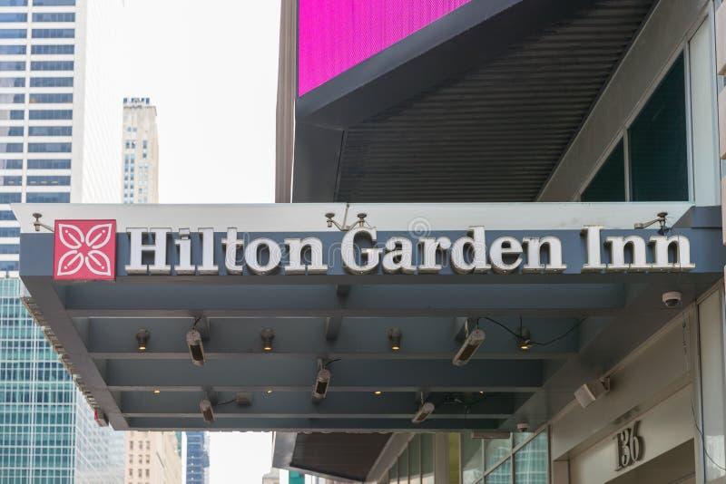 Hilton Garden Inn en New York City, Times Square fotos de archivo libres de regalías