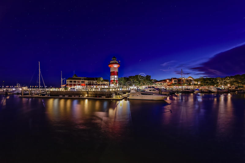 Hilton- Head Islandleuchtturm stockbild