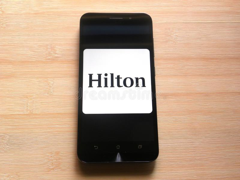 Hilton Honoruje app obraz royalty free