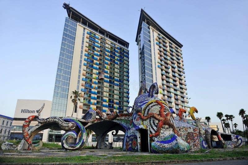 Hilton Hotel в Батуми стоковое изображение