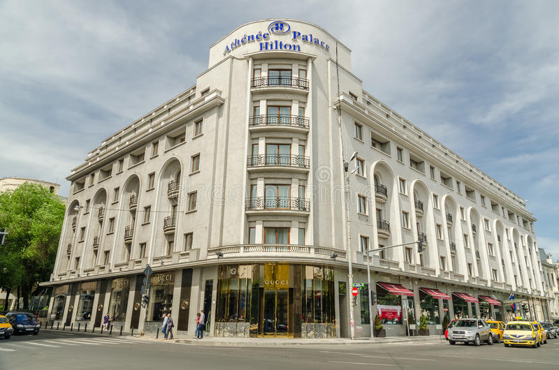 Hilton Hotel In Bucharest arkivfoton