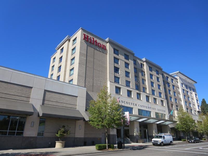 Hilton hotel down town vancouver washington royalty free stock image