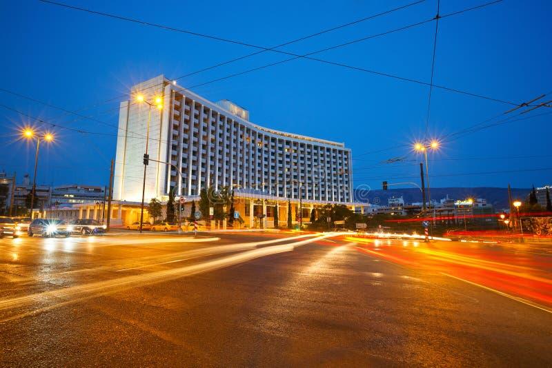 Hilton Hotel i Aten fotografering för bildbyråer