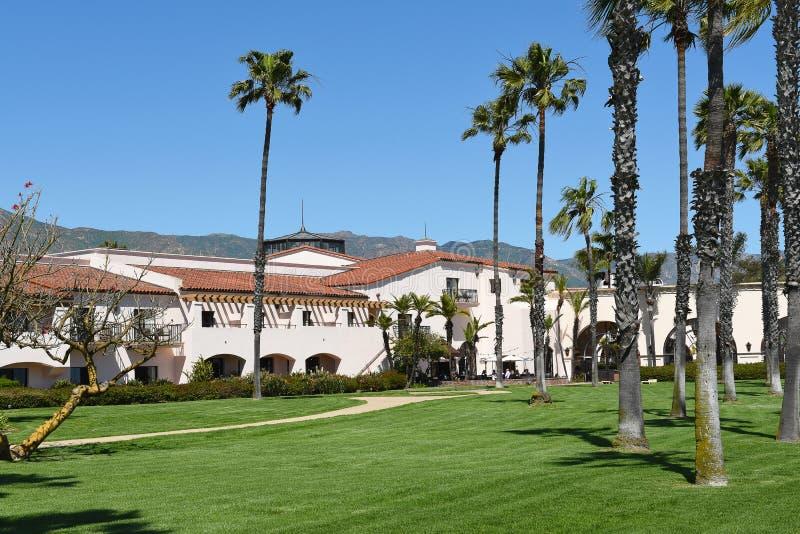 Hilton Santa Barbara Beachfront Resort Grounds foto de archivo libre de regalías
