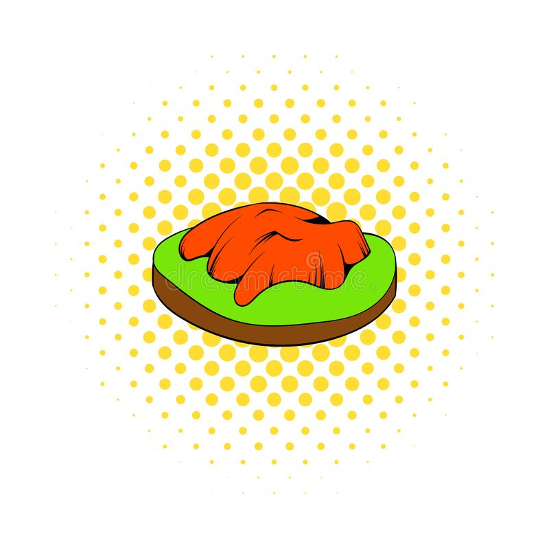 Himachal icon in comics style. On a white background stock illustration
