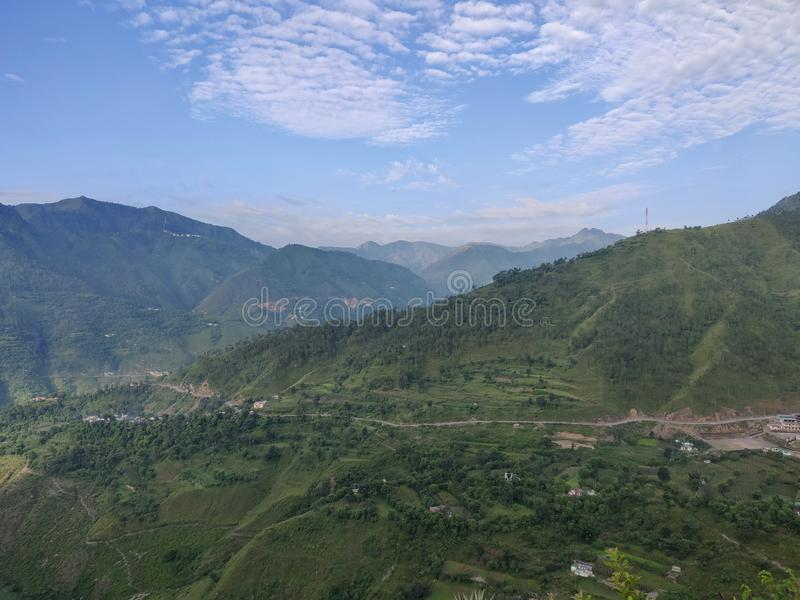 Himachal pradesh, which is a state of india. Himachal Pradesh is a northern Indian state in the Himalayas. It`s home to scenic mountain towns and resorts such as royalty free stock image