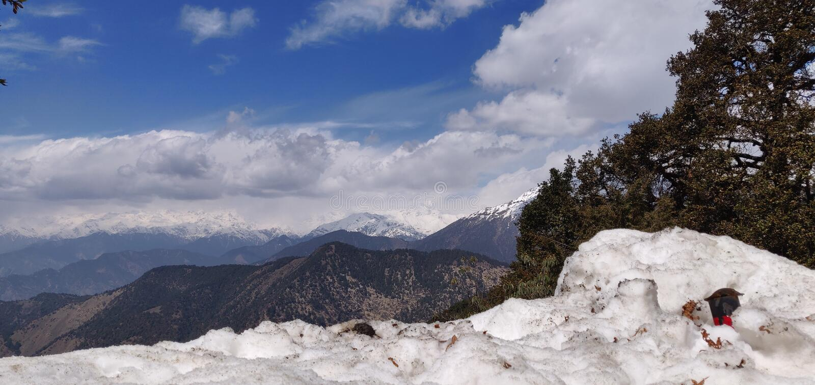 Himachal pradesh, which is a state of india. Himachal Pradesh is a northern Indian state in the Himalayas. It`s home to scenic mountain towns and resorts such as royalty free stock photo