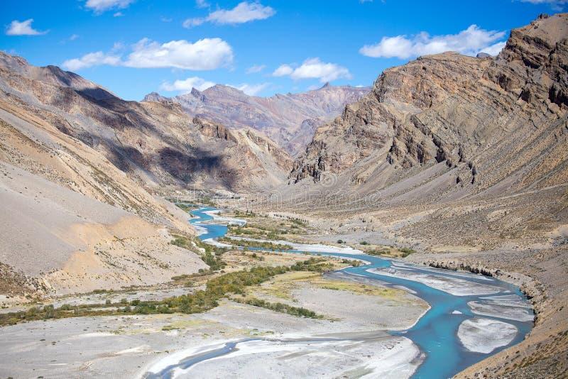 Himalaja entlang Manali-Lehlandstraße Indien lizenzfreie stockfotografie