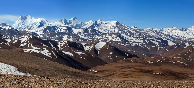 Himalajaberglandschaft in Ngari-Präfektur, Tibet, China stockfotos