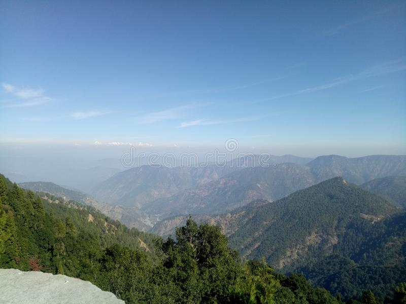 Himalajatal stockfotografie