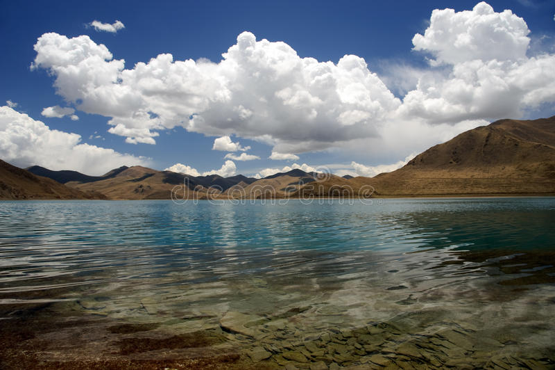 himalaje jezioro Tibet obraz royalty free