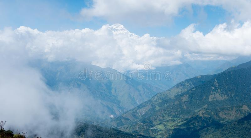 Himalaje pasmo górskie, Annapurna treking, Nepal fotografia royalty free