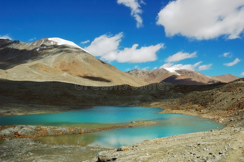 himalajscy jeziora. obraz royalty free