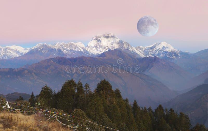 Himalajski pasmo, himalaje gór ranek fotografia stock