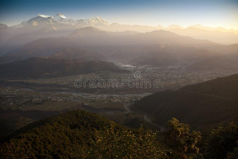 himalajski ranek gór wschód słońca widok obrazy stock