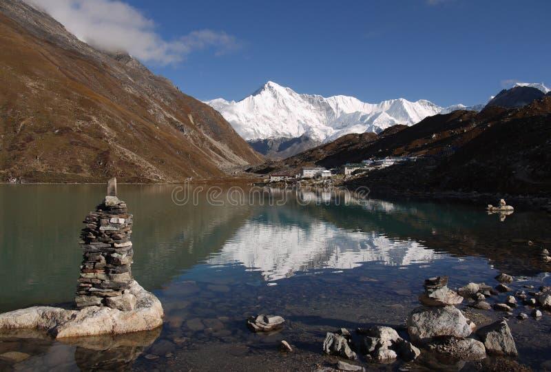 Himalaya Mountains Landscape Nepal. Himalaya Mountains Landscape, Everest Region, Nepal stock images
