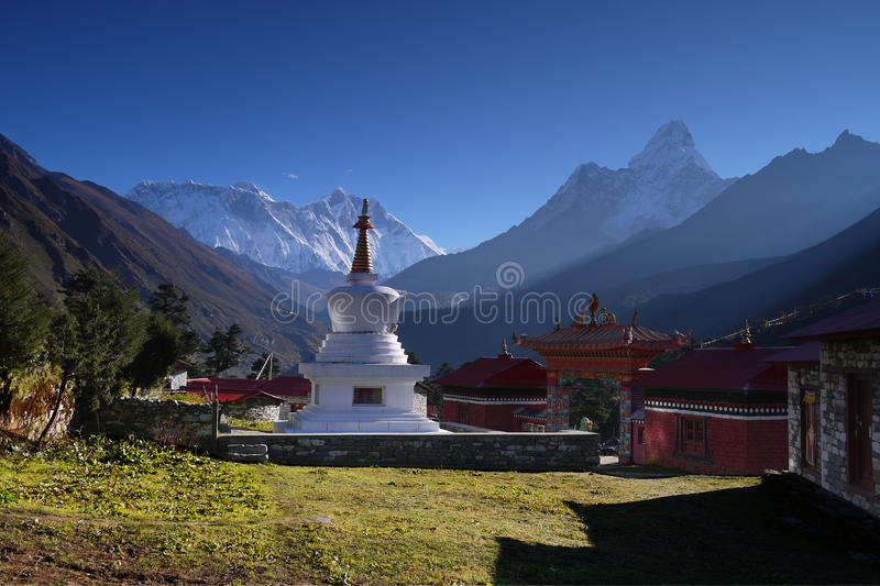 Himalaya Mountains Landscape Nepal Stock Images