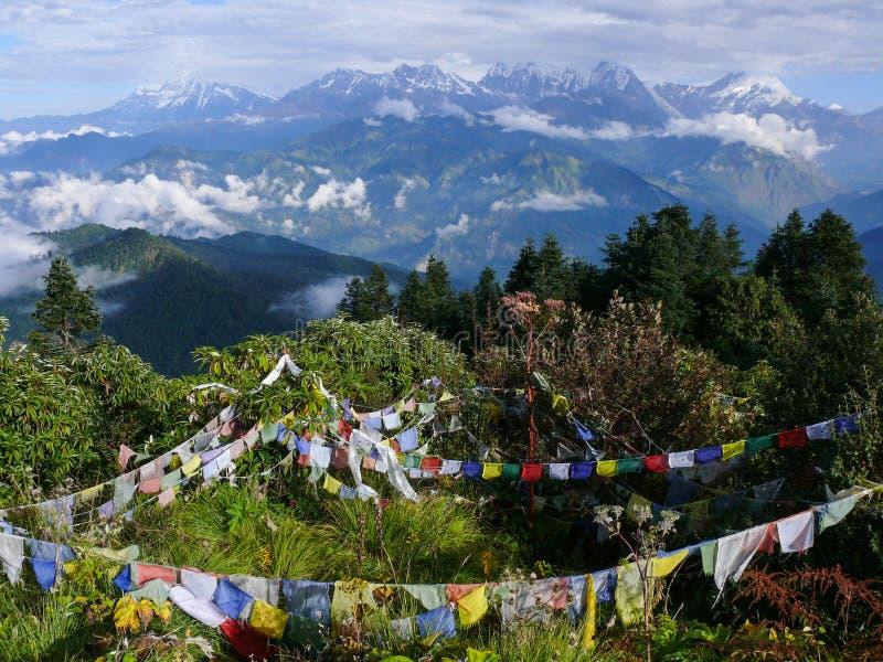 Himalaya från Poon Hill, Nepal royaltyfri fotografi