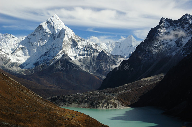 Himalaya Landscape. Himalaya, the journey to mt. Everest royalty free stock photography