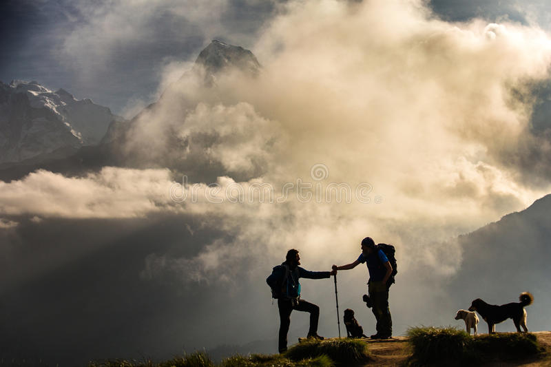 Himalaya Mountain, Poon Hill royalty free stock photography