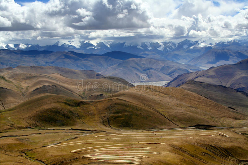 Himalaya Mountain Ranges From The Road Stock Photos