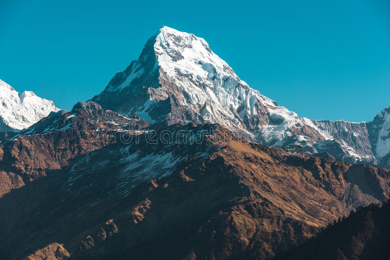 Himalaya mountains, Nepal royalty free stock image