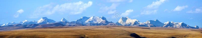 The Himalaya Mountains panorama. 5000 meters high in Tibet royalty free stock photos