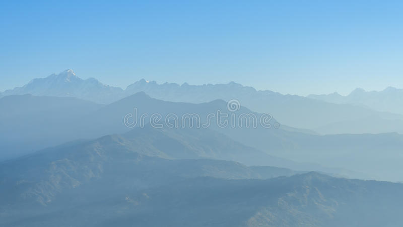 Himalaya range,Nepal royalty free stock photo