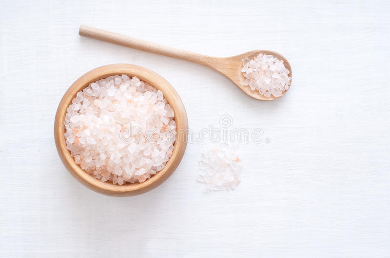 Himalaya Salt. On white background stock images