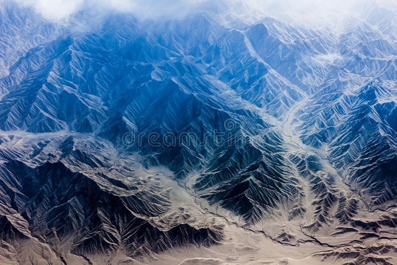 Himalaya. Summits of the Himalaya Mountains stock photo