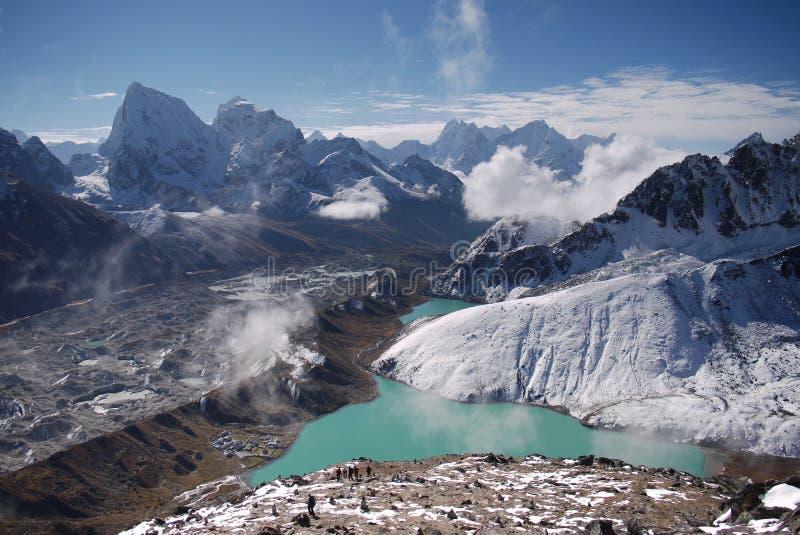 Himalayagebergte stock fotografie