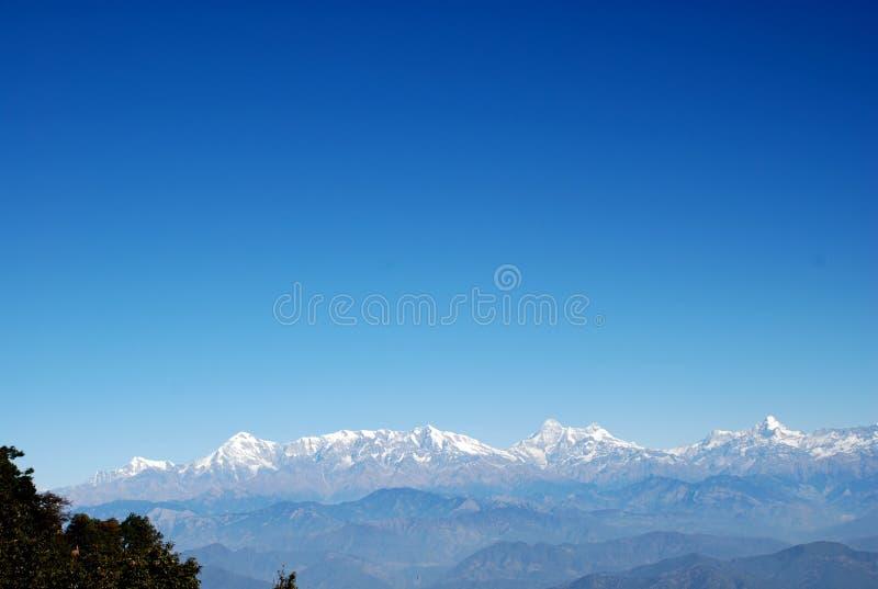 Himalayagebergte en zet Everest, Nepal op royalty-vrije stock fotografie