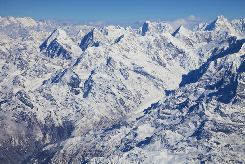 Himalayagebergte, Nepal stock afbeelding