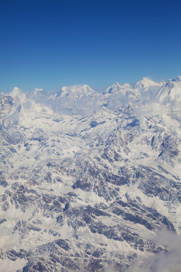 Himalayagebergte, Nepal stock afbeeldingen