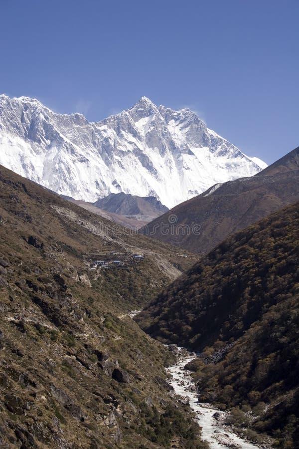 Himalayagebergte - Nepal royalty-vrije stock foto